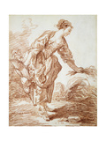 La Jardiniere Giclee Print by Jean-Honoré Fragonard