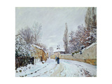 Road under Snow, Near Louveciennes, 1876 Giclee Print by Alfred Sisley