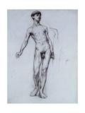 Nude Young Man Gicléetryck av Sir William Orpen
