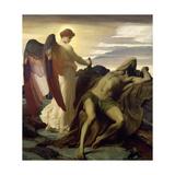 Elijah in the Wilderness, 1877-8 Giclée-tryk af Frederick Leighton