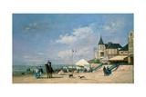 The Beach at Trouville, 1863 Reproduction procédé giclée par Eugène Boudin