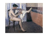 Man Drying His Leg Giclee Print by Gustave Caillebotte