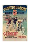 Poster Advertising the Cycles 'Clement', 1891 Reproduction procédé giclée par Lucien Baylac