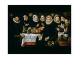 The Family of Adrien De Witte (1555-1616) 1608 Lámina giclée por Hieronymus Francken