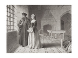 Sir Thomas More (1477-1535) and His Daughter Margaret, Observing Monks Going to Execution from… Giclee Print by John Rogers Herbert