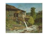 The Sawmill on the River Gauffre Reproduction procédé giclée par Gustave Courbet