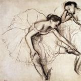 Two Dancers Resting Reproduction procédé giclée par Edgar Degas