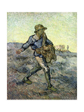 The Sower (After Millet) 1890 ジクレープリント : フィンセント・ファン・ゴッホ