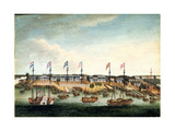 The Hongs at Canton, before 1820 Giclee Print by George Chinnery