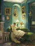 An Evening at Home, 1888 Gicléedruk van Edward John Poynter