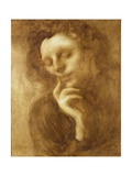 Portrait of a Woman Or, Tenderness Reproduction procédé giclée par Eugene Carriere