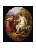 Diana Preparing for Hunting Giclee Print by Angelica Kauffmann