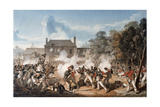 Defence of the Chateau De Hougoumont by the Flank Company, Coldstream Guards 1815, 1815 Giclée-tryk af Denis Dighton