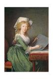 Marie-Louise of Bourbon-Sicily (1773-1802) 1790 Giclée-Druck von Elisabeth Louise Vigee-LeBrun