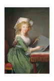 Marie-Louise of Bourbon-Sicily (1773-1802) 1790 Giclee Print by Elisabeth Louise Vigee-LeBrun
