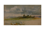 One of the 'Three Landscape Sketches' Giclee Print by Hubert von Herkomer