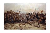 The Battle of Abu Klea, 17th January 1885, 1896 Reproduction procédé giclée par William Barnes Wollen