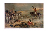 The Last Stand of the Imperial Guards at Waterloo in 1815 Giclée-tryk af Robert Alexander Hillingford