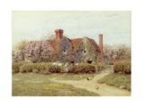 A Buckinghamshire House at Penstreet Giclée-tryk af Helen Allingham
