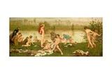 The Bathers, 1865-7 Gicléetryck av Frederick Walker