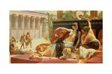 Cleopatra Testing Poisons on Those Condemned to Death Giclée-tryk af Alexandre Cabanel