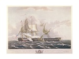 The Battle Between the Uss Constitution and the Hms Guerriere Giclee Print by Thomas Birch