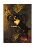 Cat and Dead Game Giclee Print by Alexandre-Francois Desportes