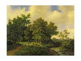 Landscape Giclee-trykk av Barend Cornelis Koekkoek