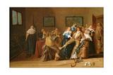 A Merry Company in an Interior, 1640 Lámina giclée por Dirck Hals