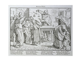 Death before the Public House, from 'Another Dance of Death' Published by Georg Wigand in… Giclee Print by Alfred Rethel