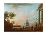 Sea Port, Sunrise, 1757 Giclée-Druck von Claude Joseph Vernet