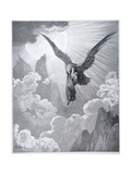 Dante and the Eagle, from 'The Divine Comedy' (Purgatorio) by Dante Alighieri (1265-1321)… Giclee-trykk av Gustave Doré