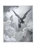 Dante and the Eagle, from 'The Divine Comedy' (Purgatorio) by Dante Alighieri (1265-1321)… Lámina giclée por Gustave Doré