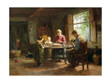 A Dutch Interior - Grace before the Meal Giclee Print by Evert Pieters