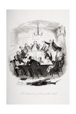Mr. Pickwick Addresses the Club, Illustration from 'The Pickwick Papers' by Charles Dickens… Reproduction procédé giclée par Hablot Knight Browne