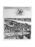 View of London, Published 1647 (Detail) Lámina giclée por Wenceslaus Hollar