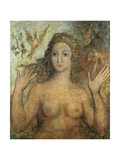 Eve Naming the Birds, 1810 Lámina giclée por William Blake
