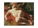 La Bacchante, C.1844-47 Reproduction procédé giclée par Gustave Courbet