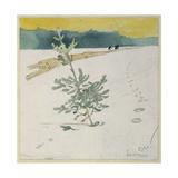 Winter Landscape Giclée-tryk af Carl Larsson