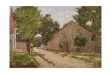 Route De Port-Marly, C.1860-67 Reproduction procédé giclée par Camille Pissarro