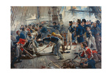 The Hero of Trafalgar Giclée-tryk af William Heysham Overend