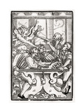 Death and the Devil Come for the Card Player, Engraved by Georg Scharffenberg, from 'Der Todten… Giclee Print by Hans Holbein the Younger