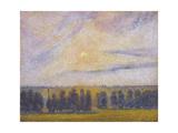 Sunset at Eragny, 1890 Reproduction procédé giclée par Camille Pissarro