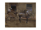 The Governess Cart Reproduction procédé giclée par Joseph Crawhall