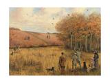 Pheasant Shooting Lámina giclée por Christopher William Strange