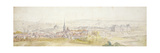 Distant View of a Town with a Chateau on the Right Giclée-Druck von Adam Frans van der Meulen