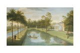 View of the Temple by the Water, with the Basin and Long Canal, Chiswick Villa Giclee Print by Pieter Andreas Rysbrack