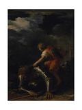 David og Goliat Giclée-tryk af Salvator Rosa