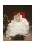 Girl Reading Giclee Print by Alfred Emile Léopold Stevens
