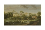 View of the Terrace Looking across the Canal to the Side of the Villa, Chiswick Villa Giclee Print by Pieter Andreas Rysbrack